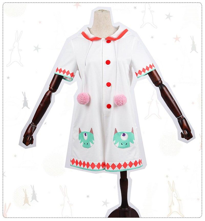2017 Anime Onmyoji Ouo Cosplay Costume White Cute Rabbit Woman Sleepwear D