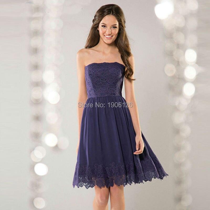 Popular Navy Blue Strapless Dress-Buy Cheap Navy Blue Strapless ...