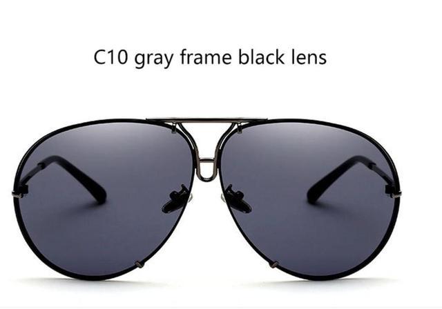 043ba99a71 Товар Big brand design pilot sunglasses 2018 fashion shades mirror ...