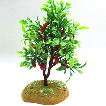 2017 Real Decoration Summer Artificial Tree Branch Craft Moss Plastic Home Furniture Decor Garden Plants Grass Foliage Plant