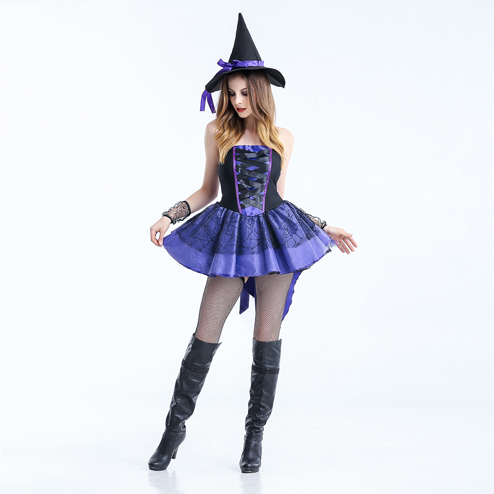 Vashejiang Plus Size Sexy Women Witch Costumes Adult Magic Moment Cosplay Sexy -8447