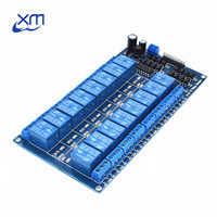 1pcs 12V 16 Channel Relay Module For Arduino ARM PIC AVR DSP Electronic Relay Plate Belt