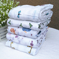 120x120cm Muslin Swaddle Blanket Baby Blanket Newborn Infant 100% Cotton Swaddle Towel Breathable For Photography Props Basket