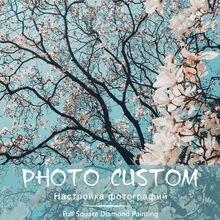 Custom Photo! Flowers photos Full Square/Round Drill 5D DIY Diamond Painting Personal Custom Cross Stitch 5D Mosaic Embroidery