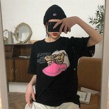 M Womens Shirt Fashion Short Sleeve Casual Harajuku Kawaii Ms. T-Shirt