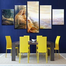 Artryst Canvas HD Prints Paintings Modular Wall Art Glory To God Pictures 5 Pieces Jesus Christ Poster Home Decor Living Room