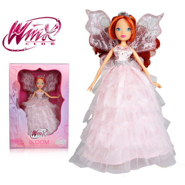 2017 Newest Special Edition Winx Club Doll Rainbow Colorful Girl Action Figures Fairy Bloom Dolls With