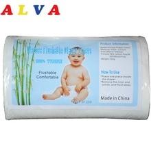 1 рулон ALVA биоразлагаемый смываемый подгузник вкладыш смываемый вискозный вкладыш для ребенка 40 грамм на квадратный метр