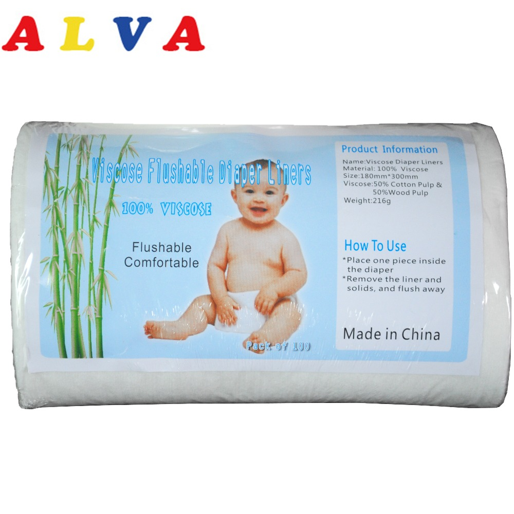 1 Rolle Alva Biologisch Abbaubaren Spülbare Windeleinlagen Spülbare Viscose Liner Für Baby 40 Grammes Pro Quadratmeter