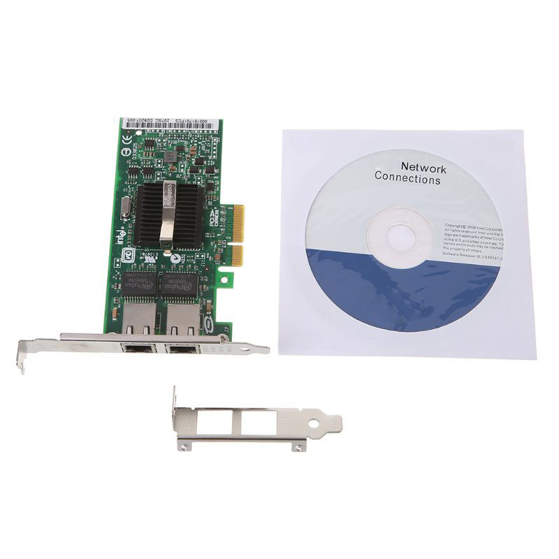 PCI-Express Dual Port 10/100/1000Mbps Gigabit Ethernet Card Server Adapter NIC EXPI9402PT Controller Intel 82571 dropshipping