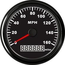1 unid GPS Velocímetro Cuentakilómetros Odograph Cuentakilómetros de 0-160MPH 9-32 V Uso para Los Coches con La Luz y la Antena GPS