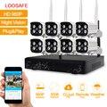 Loosafe hd 960 p 8ch nvr sistema de cámaras de vigilancia al aire libre kit sistema de cámaras cctv seguridad para el hogar wireless wifi cámara ip sistema