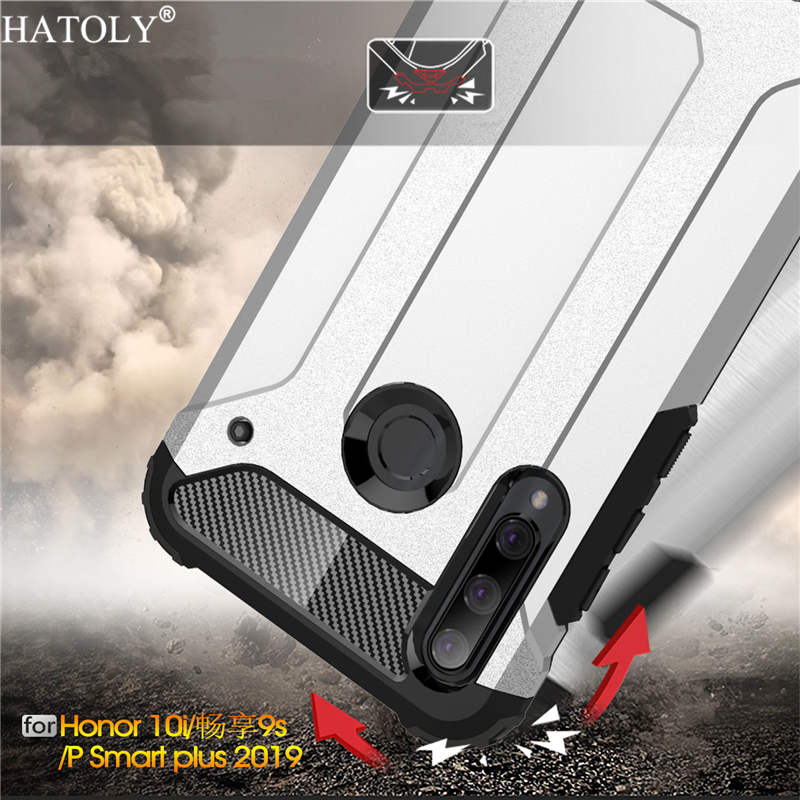 Cover Huawei Honor 10i Case Silicone Rubber Armor Shell Hard PC Back Phone For