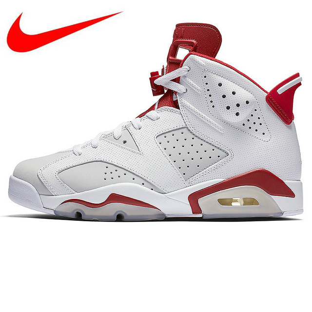 7c1371caa81f Original NIKE AIR JORDAN 6 AJ6 Joe 6 Bugs Bunny White and White Trendy  Basketball Shoes Sneakers