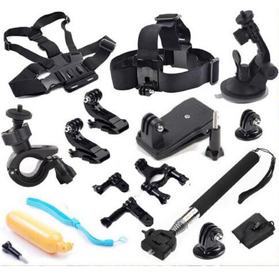 Спортивная Экшн камера Камера аксессуары 12 в 1 Набор Семья комплект экшн камеры Go Pro SJ4000 SJ5000 SJ6000 комплект принадлежностей для GoPro Hero 1 2 3 4