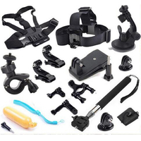 Sports Action Camera accessories 12 in 1 Set Family Kit Go Pro SJ4000 SJ5000 SJ6000 accessories package for GoPro Hero 1 2 3 4