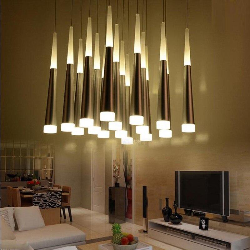 Nordic Pendant Lamp Living Room Hanging Lamps Stair Lighting Dining Bar Lamp Kitchen Lighting Pendant Hanging Lights Gold