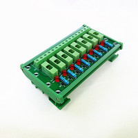 DIN Rail Mount 8 Position Fuse Module Board,Fuse Holders for 5x20mm(DxL) tube fuse.
