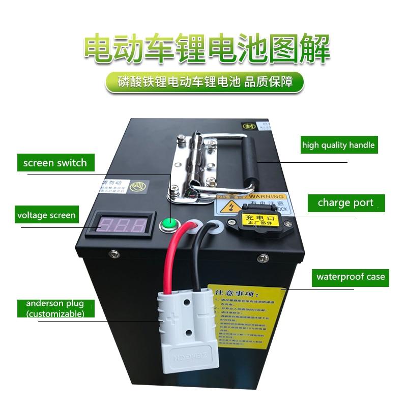 Batería de iones de litio de alta potencia para dispositivos de energía de emergencia al aire libre, fuente de alimentación de vehículo, 48V, 60V, 72V, 40AH, 60AH, 100AH