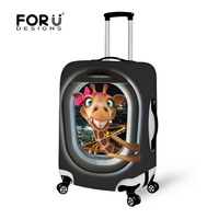 Frog Pattern Anti Scratch Travel Luggage Cover Suitcase Protective Dust Cover Elastic Travel Luggage Cover For