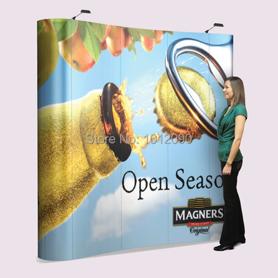 3X3 High Quality Pop Up Display Combo / 7.5ft Booth with Printed Graphic, Lights & Case (Free shipping to USA & Canada)