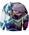 Classic Anime Naruto Sweatshirts Women Men Long Sleeve Outerwear Uzumaki Naruto/Kakashi 3D Sweatshirt Crewneck Pullovers