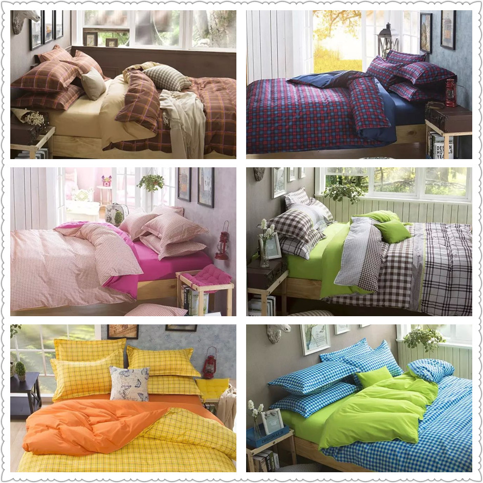 online get cheap bright quilt covers com alibaba group bright colored plaid checked print bedding set for children home decor twin full queen size bed linens quilt duvet covers sheets