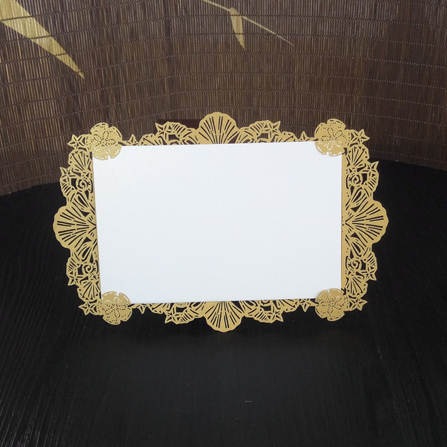 10pcs 18x12cm Laser Cut Diy Lace Wedding Party Menu Card Table Place