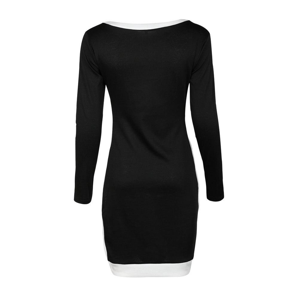 Zmvkgsoa 2018 New Winter Autumn Bodycon Sheath Dress Women Elegant Office Work Long Sleeve Sexy Black Vintage Dress Robe Y2069