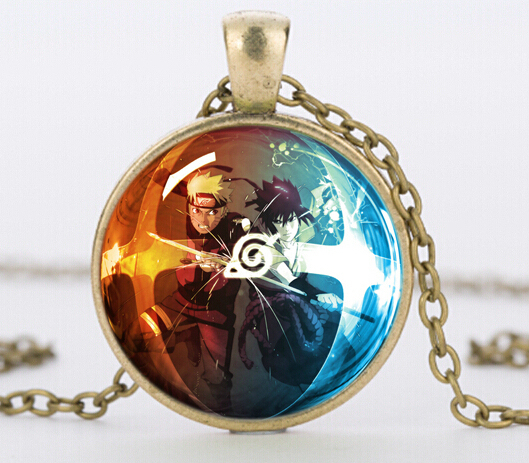 New Design Classic Anime Naruto Glass Dome Necklace