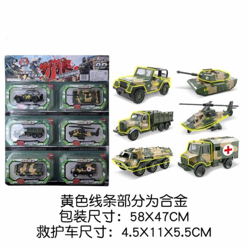 6 Buah/Set Paduan Teknik Mobil Model Traktor Mainan Dump Truk Model Klasik Mainan Kendaraan Mini Hadiah untuk Anak Laki-laki