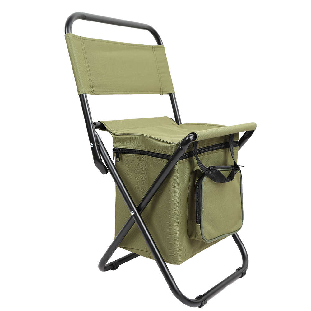 Folding Chair Backpack Fishing Chair Folding Chair Backpack Portable Ice Thermos Bag Folding Stool Backpack Outdoor Bifunctional Fishing Bag And Chair