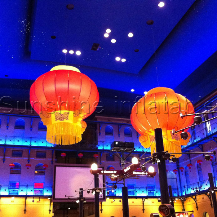 2016 newest ceiling led decoration inflatable chinese lanterns for wedding party club concernt