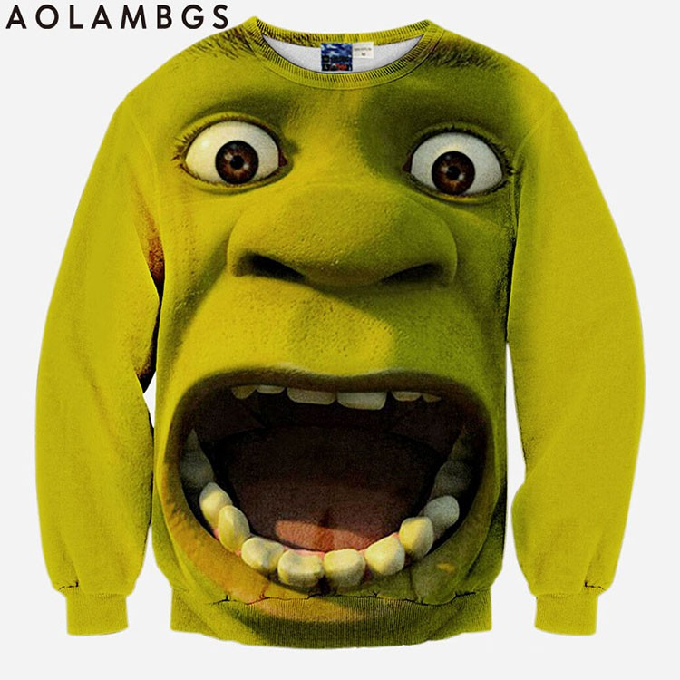 Menwomen 3d sweatshirts new designed Surprised Frankenstein hoodies funny print animals dog lion tops pullover sport tracksuits (1)