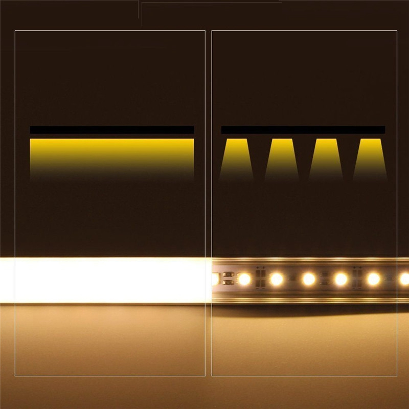 U/V/YW Style 30/50cm Aluminium Milk Cover Rigid Channel Holder For LED  Strip Bar Light DIY Lighting Under Cabinet Cupboard Lamp In LED Bulbs U0026  Tubes From ...