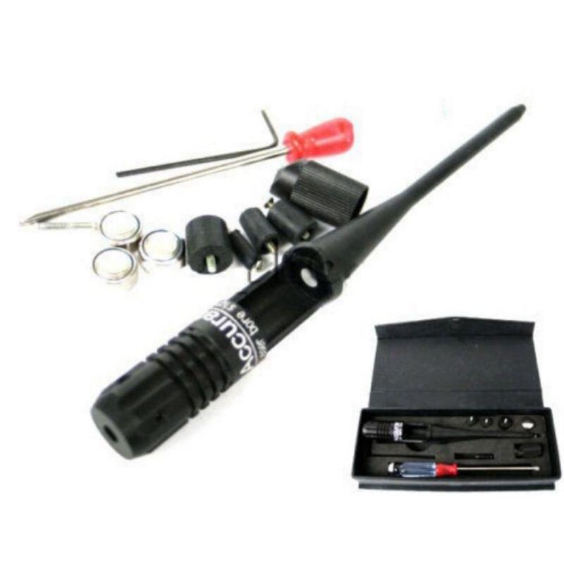 Colimador Laser Furo Vista Âmbito Riflescope tático 650nm Vermelho 22 Para 50 3 Calibre Boresighter Colimador Bateria definir novo