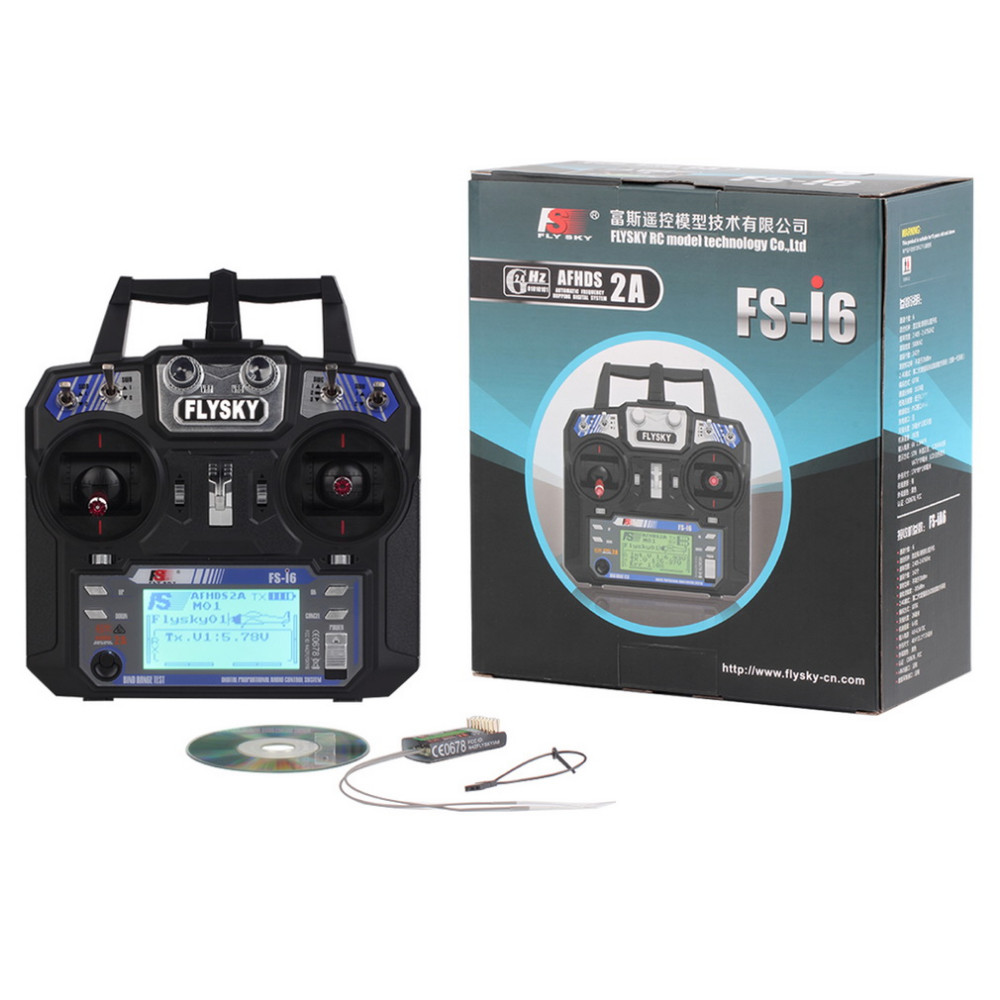 Wholesale FlySky FS-i6 2.4G 6CH AFHDS RC Transmitter With FS-iA6 FS-iA6B Receiver for Airplane Heli UAV Multicopter Drone flysky fs i6s 2 4g 6ch afhds transmitter with fs ia6b receiver