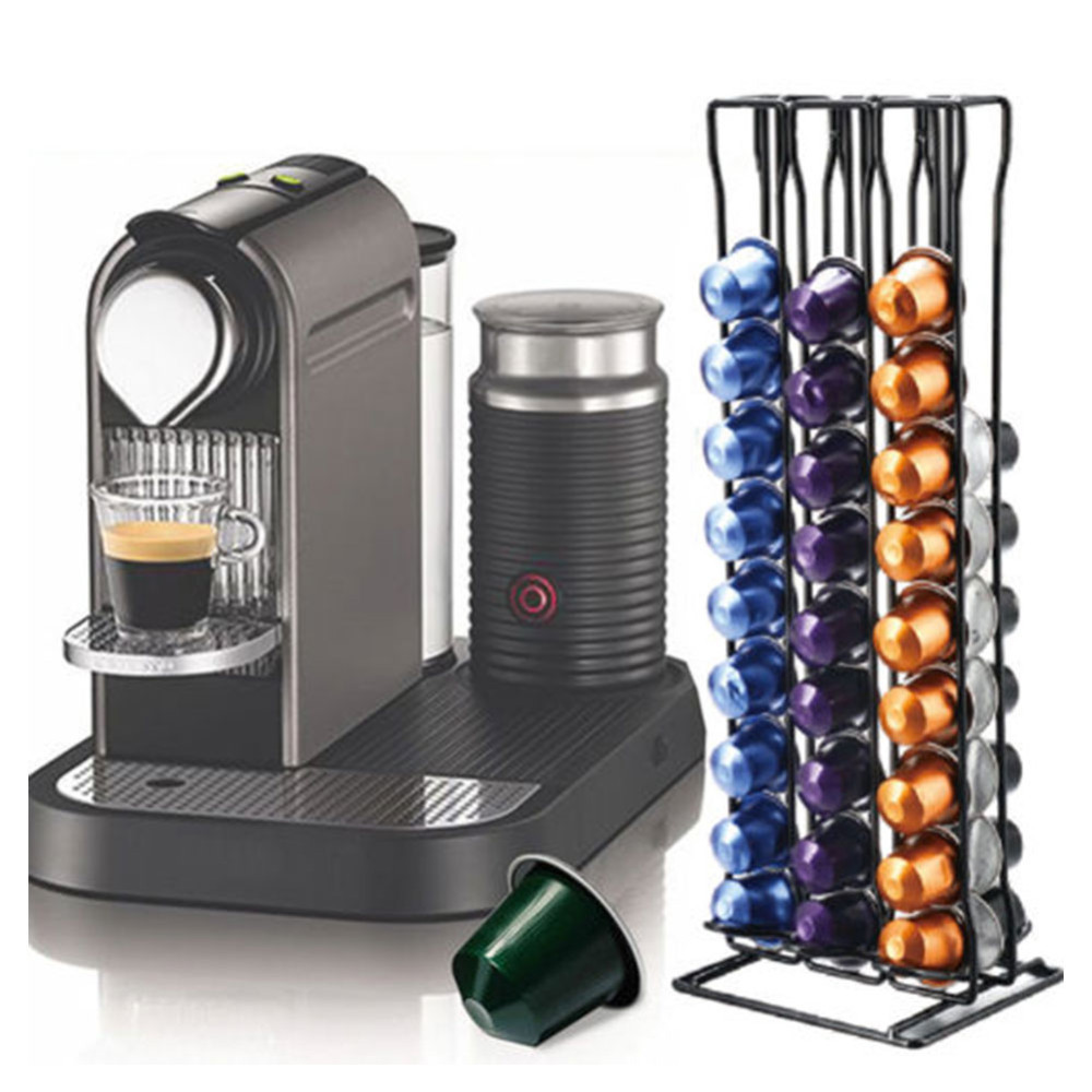 1pcs Coffee Capsule Rack Capsule Stand For Nespresso 60 Capsules Capsular Storage Container Black Plastic Coffee Pod Holder