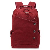 KINGSLONG 15.6 inch Laptop Backpack Women's Mochila for Teenagers Fashion school backpack linen Casual Bags Travel bag for Women