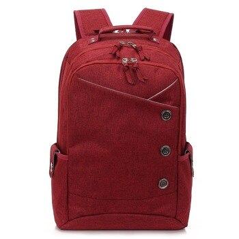 eb6084d946e7 Kongslong женские и мужские рюкзаки для подростков Мода школьный Лен  ноутбук рюкзак женский мужские и женские