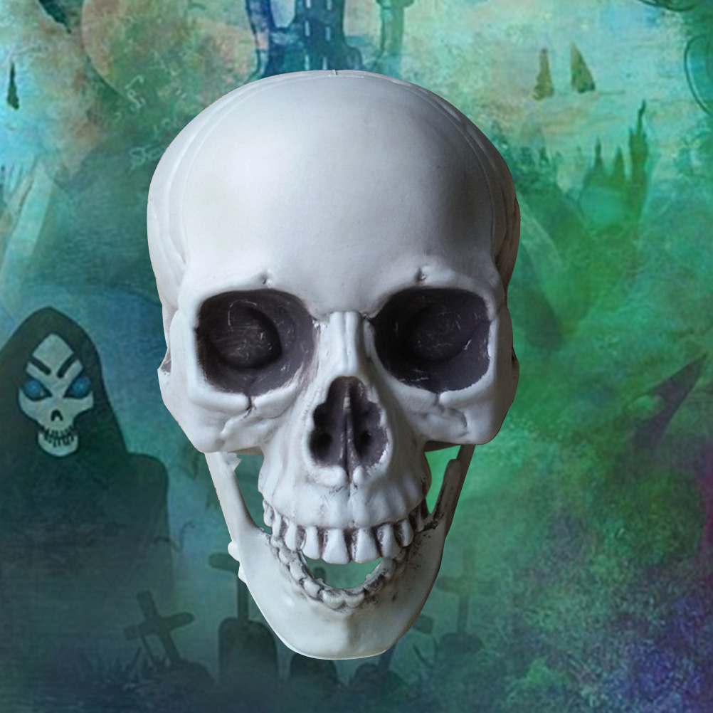 Scary Halloween Plastic Simulation Skull Decoration Skull