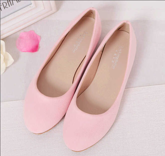 Primavera Verano señoras zapatos Ballet Flats Mujer Zapatos mujer Bailarinas negro tamaño grande 43 44 zapato Casual Sapato mujer Loafe