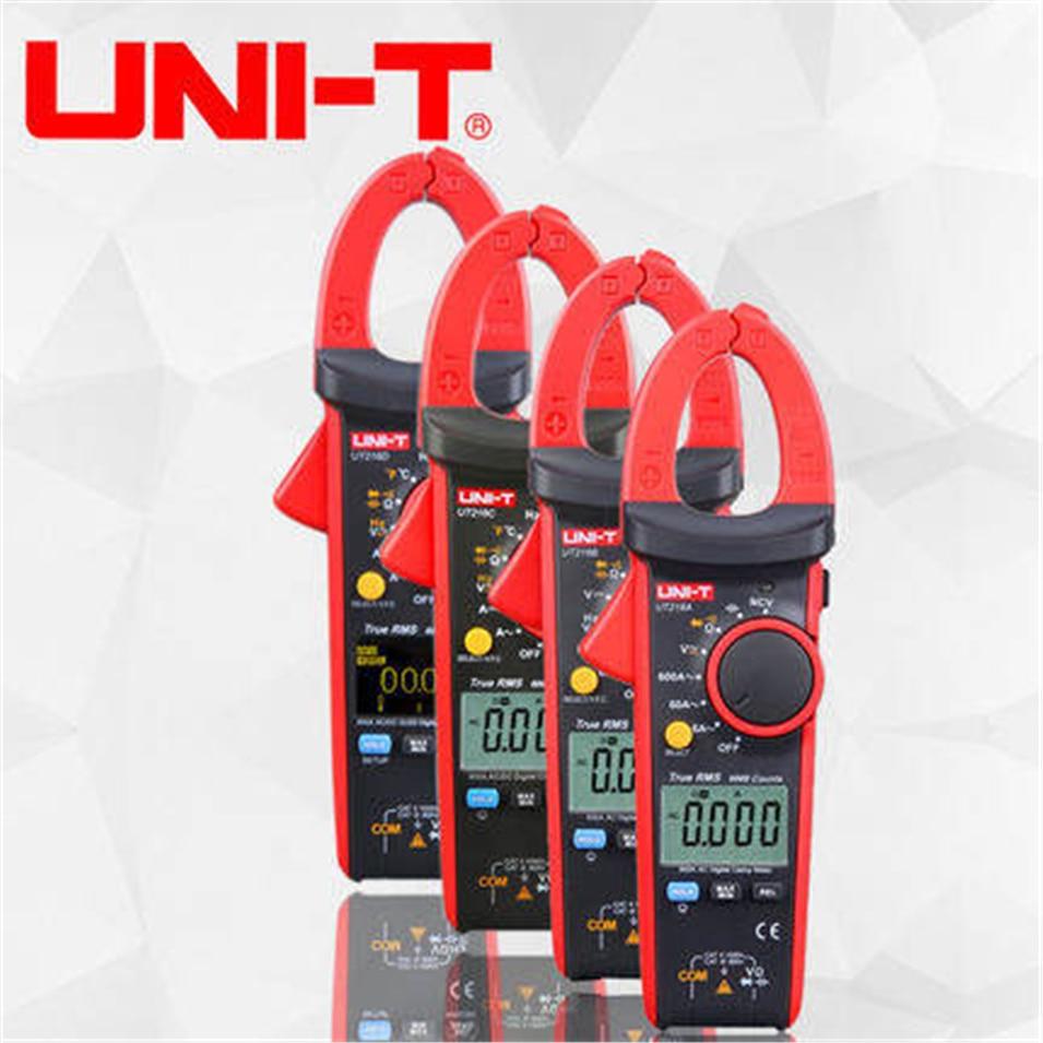 UNI-T UT216A UT216B UT216C UT216D 600A True RMS Digital Clamp Meters AC/DC Current V/A Capacitance Ohm Freq Temp VFC NCV uni t ut202a 400 600a ditgital current clamp meters diagnostic tool capacitance tester ncv test dc ac multimeter