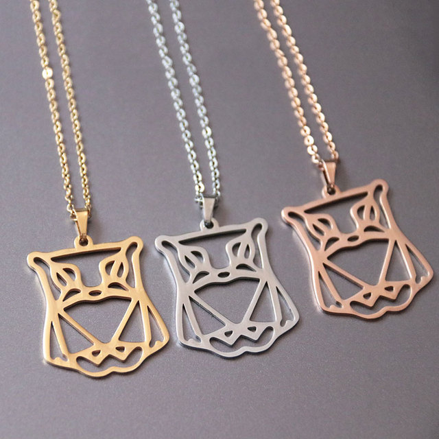 Wholesale 10pclot Delicate Origami Owl Necklace 3 Colors Geometric
