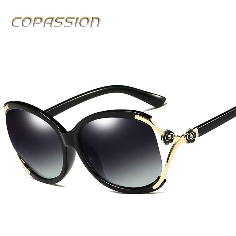 2017 vintage flower polarized sunglasses women brand designer luxury oversized sun glasses spots sunglass oculos de sol feminino