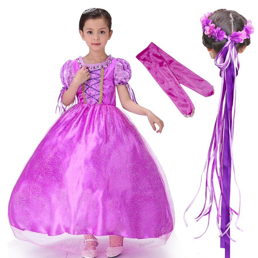 Princess Sofia Dress Clothes Girls Sofia Costume Dresses Girls Costumes for halloween Kids Party Dresses Cosplay