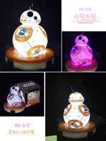 12cm Star Wars The Force Awakens BB8 BB 8 Colors Light Led Robot Action Figures PVC