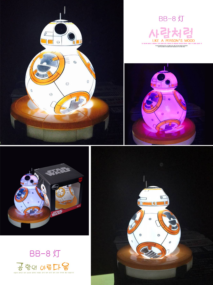 12cm Star Wars The Force Awakens BB8 BB-8 colors light Led Robot Action Figures PVC Collection Figures toys for christmas gift