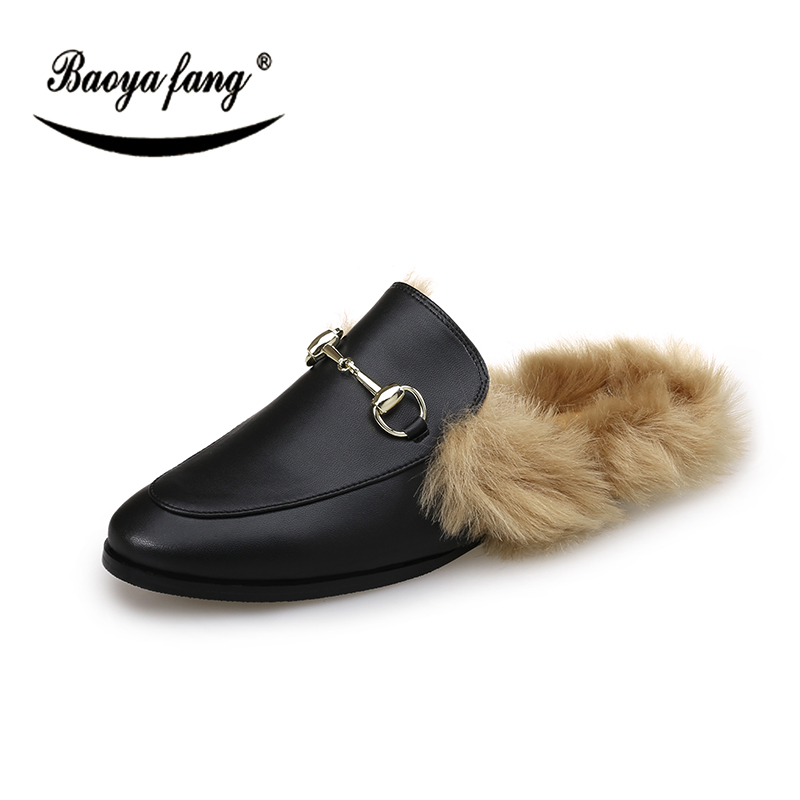 BaoYaFang New Arrival Winter Women Flat shoes Fur single shoes woman fashion shoes Round Toe Shallow shoes for woman e hot sale wholesale 2015 new women fashion leopard flat shallow mouth shoes lady round toe shoes