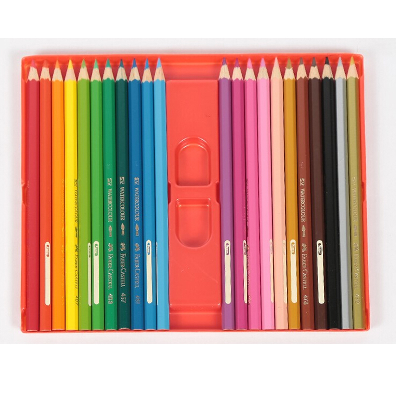 Faber-Castell Water-soluble 36/48 Colors Pencil Iron Box Set Drawing Colour Pencils Art Supplies For Painting faber castell 12 24 36 60 colors blue tin lattice water color water soluble colour pencil